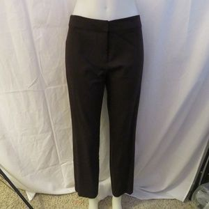 EILEEN FISHER BLACK FLAT FRONT STRETCH PANT  PS/8